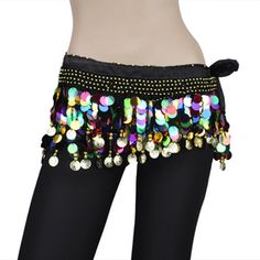 BellyLady Plus Size Belly Dance Hip Scarf With Colorful Paillettes   #BellyLady
