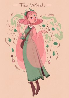 Tea Witch by Lana Jay  on http://ArtCorgi.com/?utm_source=pinterest&utm_medium=pin&utm_campaign=referral=34 -- Commission art online   commission art    commissioned art    family portraits    anniversary gifts    illustrations    painting    drawing    before and after    commissions    hire an artist    anime    manga    cartoon    realism    realistic    artcorgi   romantic gifts   romantic portraits   couple portraits   anime commission