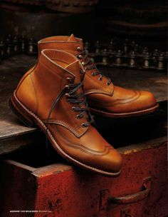 The Wolverine 1000 Mile Boot, Addison, Tan (Brown would be my choice)
