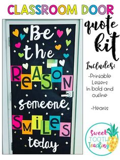 """BE THE REASON SOMEONE SMILES TODAY"" DOOR DECOR KIT"