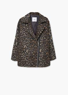 Animal pattern jacket   MANGO