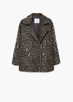 Animal pattern jacket | MANGO