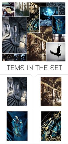"""""""Moodboard: Ravenclaw"""" by fandomland ❤ liked on Polyvore featuring art"""