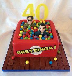 Big Bang theory cake - bazinga ball pool!!!!
