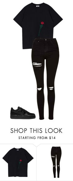 """Mi Na- Fake help 1"" by ifrancesconi on Polyvore featuring Topshop and NIKE"