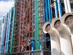 Centre Pompidou in Paris, France Pompidou Paris, Renzo Piano, Expositions, Art Moderne, Architecture, Centre, Art Nouveau, Photo Galleries, Art Gallery