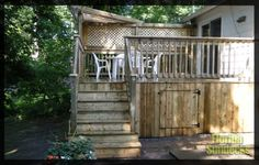 Decks in Treated Wood in West Island of Montreal