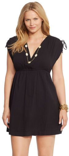 718058c9dd3 Ralph Lauren Woman Cotton Surplice Cover-Up Junior Plus Size Swimwear