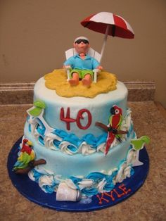 Jimmy Buffett cake By flourjuice on CakeCentral.com! My dad would love this!!