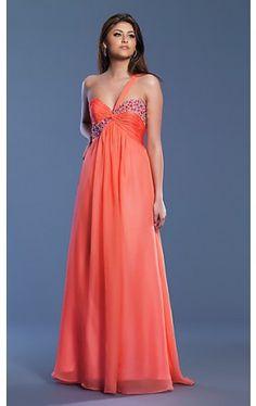 One Shoulder Prom Dress DJ-6303
