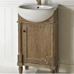 Rustic Chic 20u201d Single Sink Bathroom Vanity And Sink Set