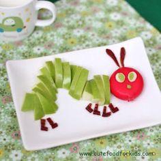 caterpillar - food - fruits