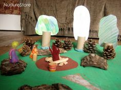 Make a fairy land :: Waldorf Steiner play - NurtureStore