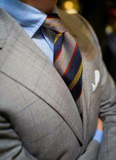 Fashion & style. Nice jacket, elegant tie. Perfect combo