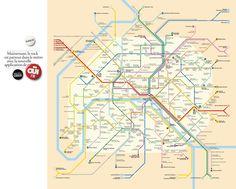 Au premier coup d'œil, ce plan de métro ne se distingue pas des autres. Et pourtant, quand on se penche un peu plus en détail dessus, on comprend qu'on à affaire à un plan de métro très rock'n'roll. Ne cherchez pas les stations Duroc, Rue Saint-Maur ou Quai de la Gare, vous ne les trouverez pas.