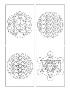 Sacred Geometry Crystal Grid Cards