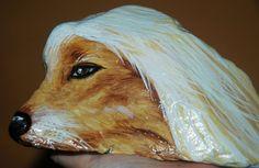 art painted rock dog