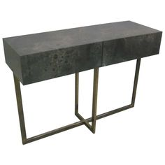 Extraordinary French Console/Sofa Table by Jacques Quinet   1stdibs.com