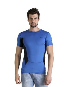 Men's Blue & Black T-shirt – Atheno India