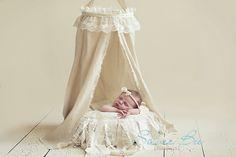 DIY Fabric and Lace Canopy for Newborn Photography | Austin Newborn Photographer