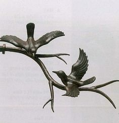 Bird on Branch Finial Pair by The Finial Company