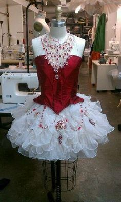 "@Crystal Chou Chou Cox imagin this in pink and black. what do you think for your pirate?   A ""Rubies"" costume by Jeremy Barney"