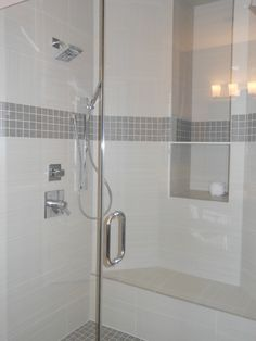 Master shower tile design worked out perfect.