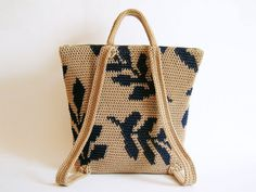 Crochet pattern for leaves backpack. Practice tapestry crochet to form a…