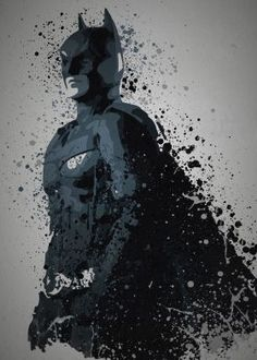 """I am the Night""  Splatter effect art work inspired by Batman from The Dark Knight"