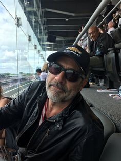 """I would never go to """"race day- wait. I have made a terrible mistake. Hilarie Burton, Jeffrey Dean Morgan Tattoos, Jefferey Dean Morgan, Celebridades Fashion, Kenneth Branagh, Men Are Men, John Winchester, The Avengers, Dark Photography"""