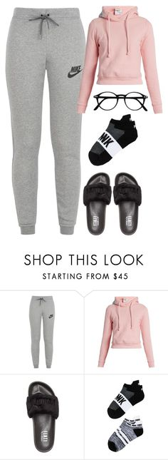 """""""Sem título #4007"""" by luiza-halembeck ❤ liked on Polyvore featuring NIKE, Vetements, Puma and Victoria's Secret"""