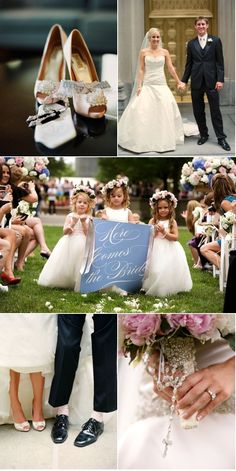 love the shoes photo (with bride and groom...cute!) and cool idea- here comes the bride sign :)