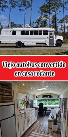 Viejo autobus convertido en casa rodante #CasaRodante #Autobus #Homecar Camping, Camper Trailers, Prefab Homes, Converted Bus, Mistress, Motors, Traveling, Autos, Campsite
