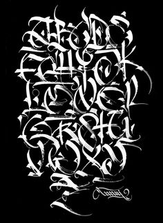 on Typography Served Calligraphy. TANAI on Typography Served, Calligraphy. TANAI on Typography Served, ABC… Calligraphy Tattoo Lettering Alphabet, Tattoo Lettering Styles, Chicano Lettering, Font Art, Graffiti Lettering Alphabet, Graffiti Font, Typography Letters, Typography Served, Alphabet Letters