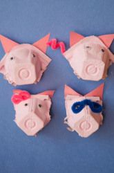 Egg carton pig noses craft for kids. An adorable recycled craft great for pretend play. Pig Crafts, Farm Crafts, Animal Crafts, Preschool Crafts, Crafts For Kids, Traditional Tales, Egg Carton Crafts, Three Little Pigs, Cute Pigs