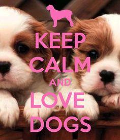 Wees kalm en hou van honden