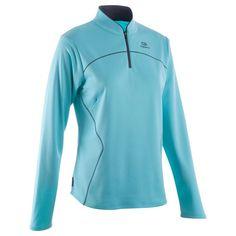 Running chaussures Vêtements - Textile de running femmes maillot ekiden  warm bleu KALENJI - Par sports Textíliák 6ee345d53e