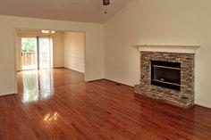 Hardwood Flooring and Stone Fireplace
