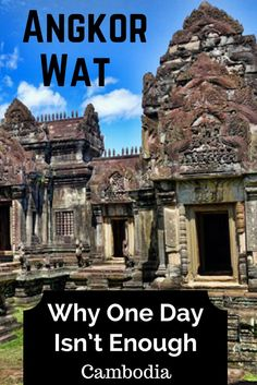 The incredible temples of Angkor in Siem Reap, Cambodia deserve more than just one day. With sights like Angkor Wat, Bayon and Ta Prohm we felt like it wasn't enough. What's your opinion?: