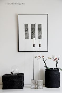 #interior #decor #styling #scandinavian #frames #posters #pictures #candles #vase