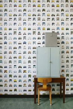 Studio Ditte Cars Wallpaper - Unique designer wallpaper online now - a leading Australian wallcovering boutique - free delivery on all orders Boys Wallpaper, Robot Wallpaper, Amazing Wallpaper, Wallpaper Murals, Wallpaper Online, Car Wallpapers, Kid Spaces, Kidsroom, Child Room
