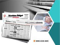 Pasang iklan baris Peluang Usaha di koran Kedaulatan Rakyat Jogja, Kirim Materi Iklan ke 085643384005 (SMS/WA)