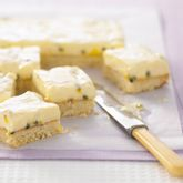 Cheesy Passionfruit Slice