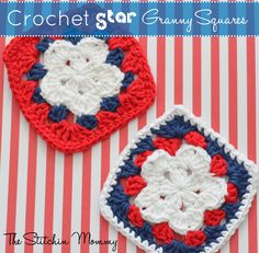 Turn my pattern for Granny Stars into Star Granny Squares! A quick and simple pattern. They are great for coasters, a granny square blanket, and more!