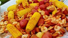 Famous in the Low Country of Georgia and South Carolina. This boil is done best on an outdoor cooker. It has sausage, shrimp, crab, potatoes and corn for an all-in-one pot all-you-can-eat buffet!