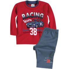 Conjunto Bebê Menino Moleton Racing Vermelho - Brandili :: 764 Kids | Roupa bebê e infantil