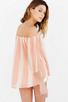 Urban Outfitters Kimchi Blue Awning Cold Shoulder Top