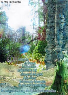 'Misschien' ansichtkaart gemaakt door Saskia Splinter #postcard #art #calligraphy #ansichtkaart