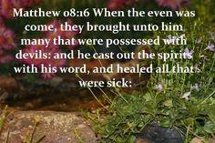 He healed all that were sick.