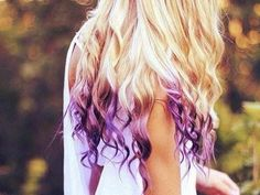 Temporary Hair Color - Dip Dye, PICK A COLOR - Hippie Hair. $4.00, via Etsy.